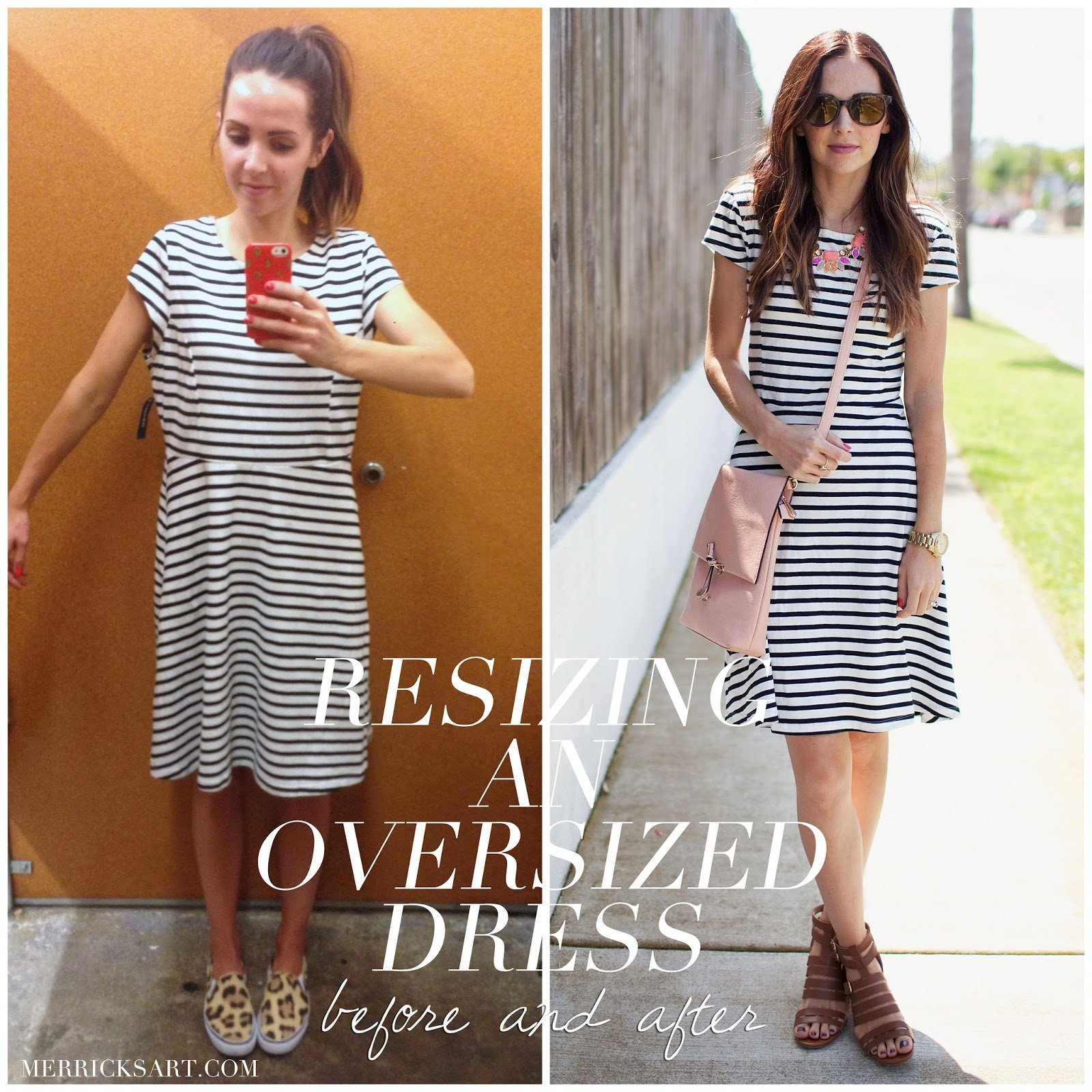 How To Resize An Oversized Dress Easily