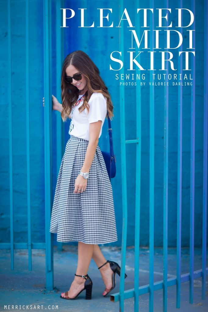 18a5f64c15 DIY FRIDAY: PLEATED MIDI SKIRT | Merrick's Art | Merrick's Art
