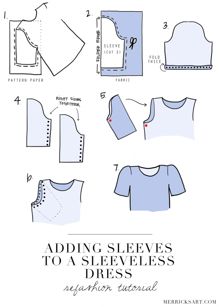 DIY FRIDAY: ADDING SLEEVES TO A SLEEVELESS DRESS ...