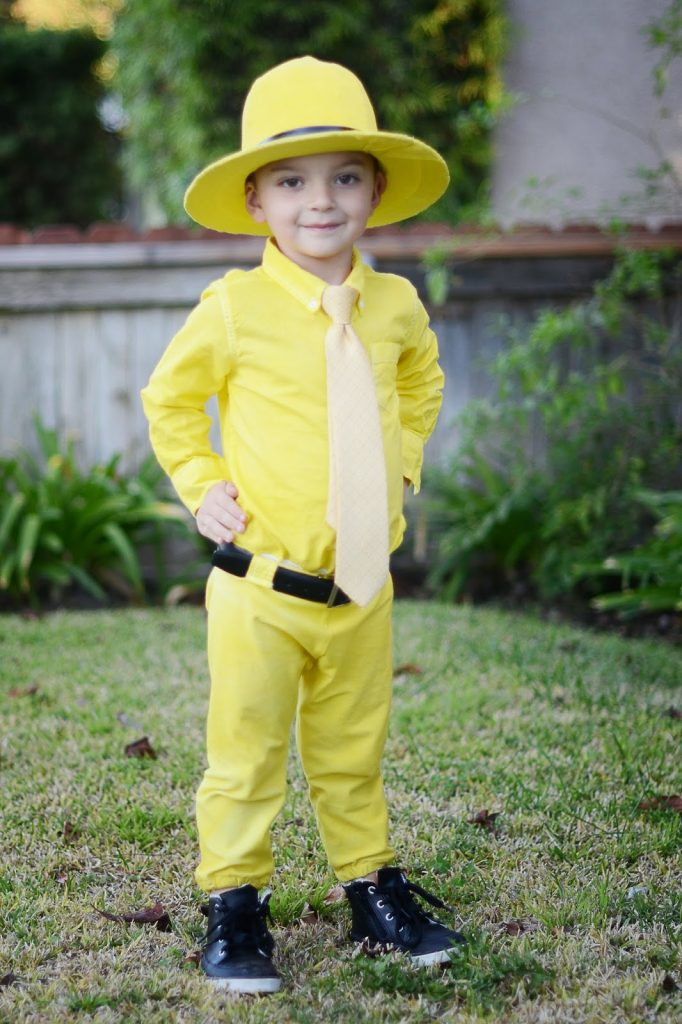 homemade halloween curious george the man with the yellow hat - Art Costumes Halloween