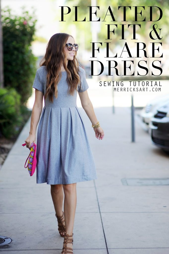 604ca8af654d5 DIY FRIDAY  PLEATED FIT + FLARE DRESS TUTORIAL