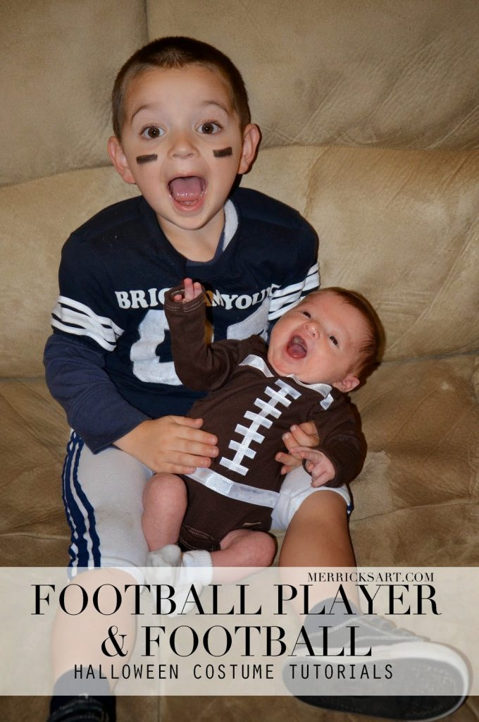 Homemade Halloween Football Player Baby Football Tutorials Merrick S Art