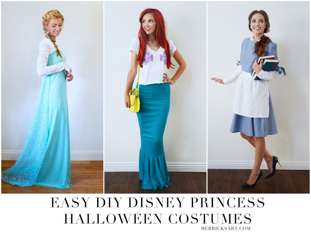 homemade halloween: diy disney princess halloween costumes