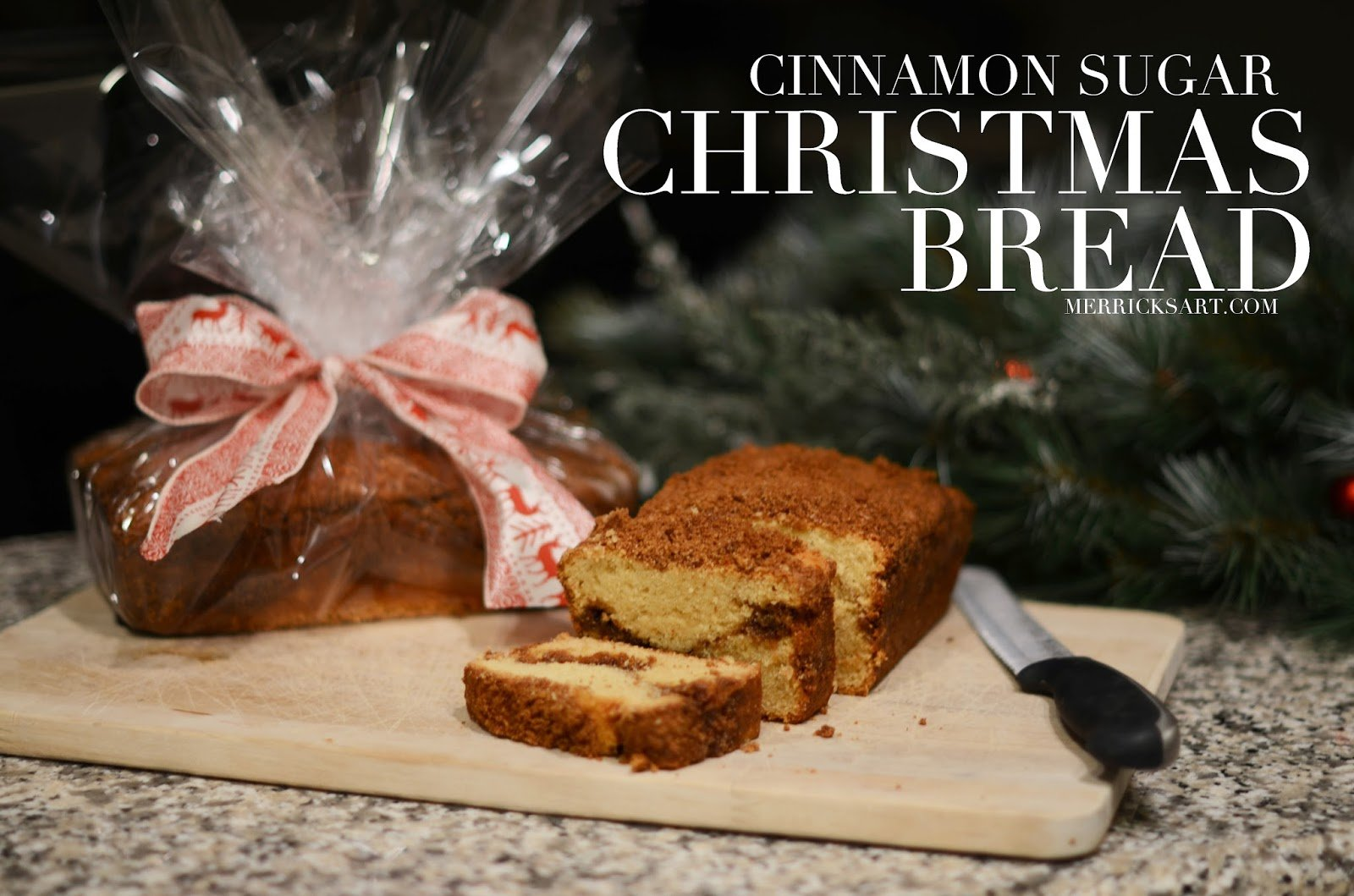 Christmas Bread Cinnamon Sugar