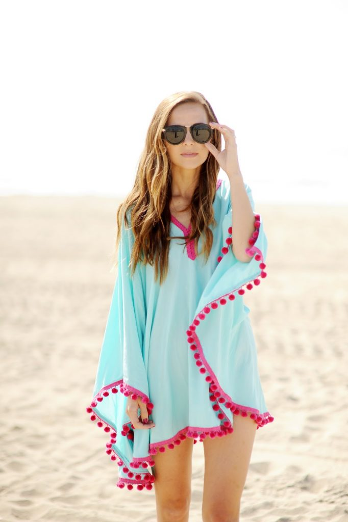03b5a5a5c0 DIY FRIDAY: POM-POM TRIM BEACH COVERUP | Merrick's Art | Merrick's Art