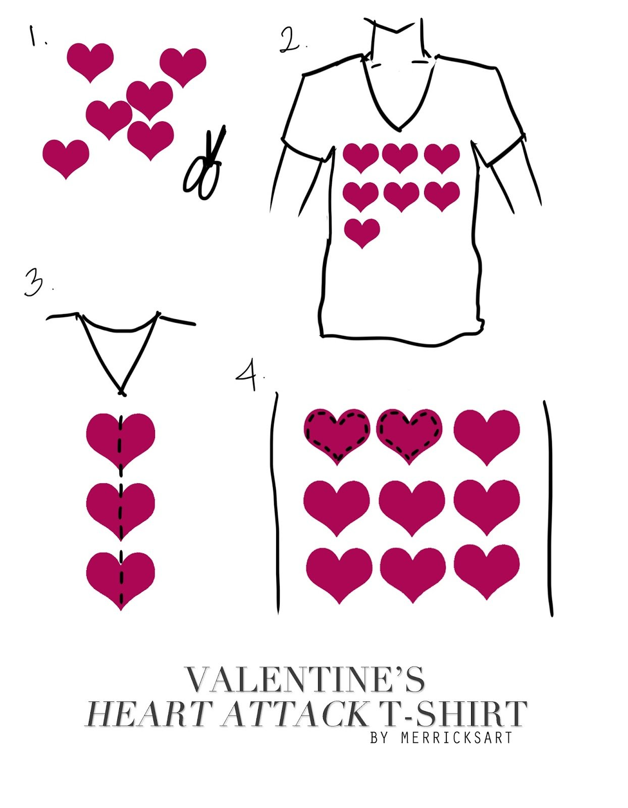 illustration of heart shirt for valentine's day