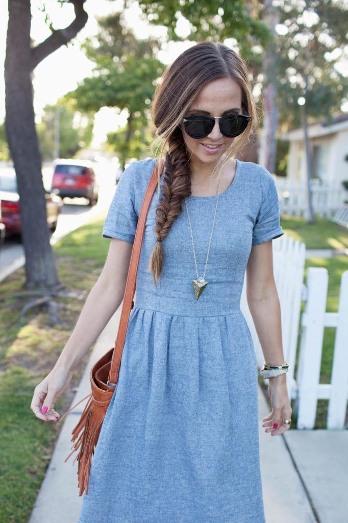 f65fa338aa3f DIY FRIDAY  THE PERFECT CHAMBRAY DRESS SEWING TUTORIAL