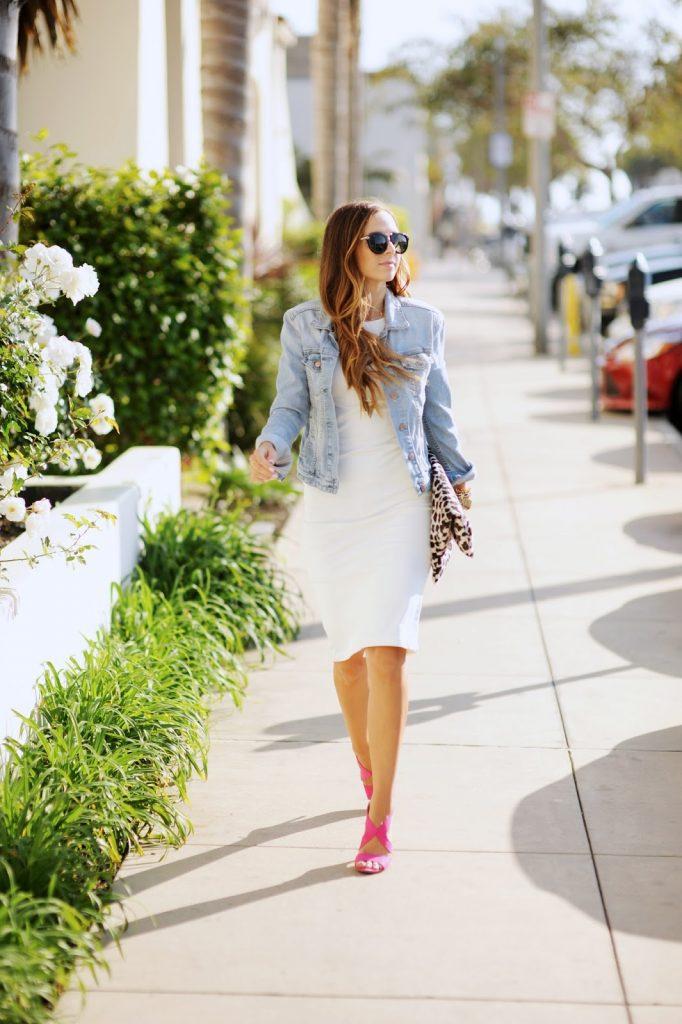 Merrick's Art White Dress Denim Jacket