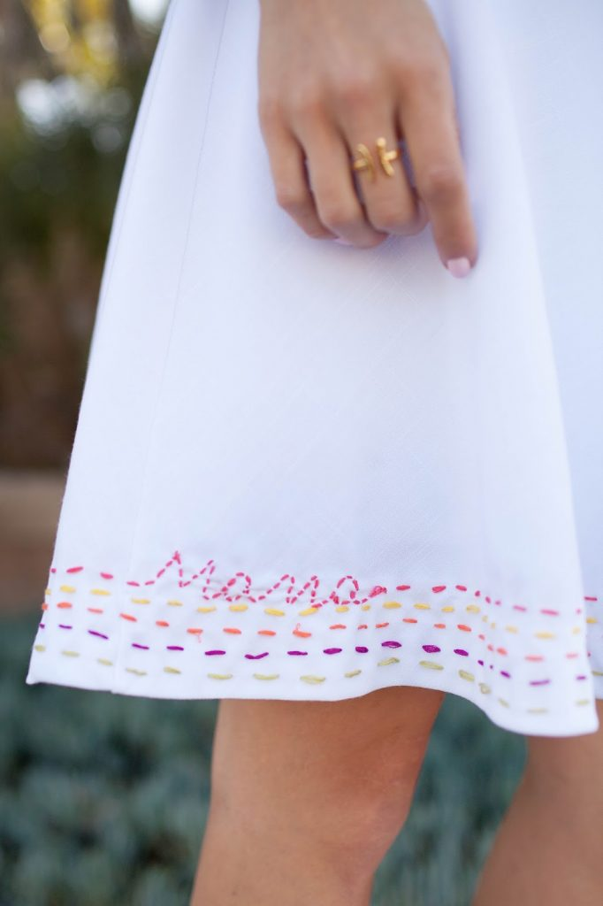 Merrick's Art Embroidered Hemline