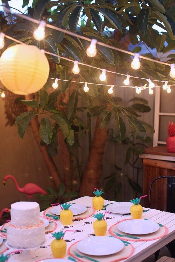 Merrick's Art   Pineapple Flamingo Party