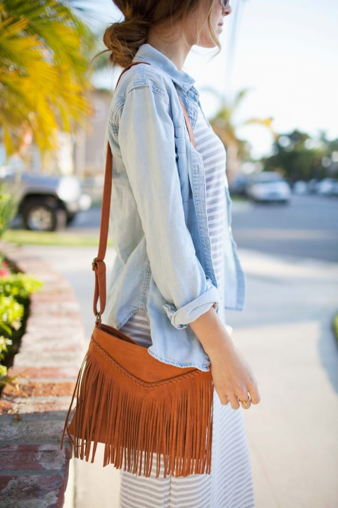Merrick's Art | Messy Bun and Fringe Bag