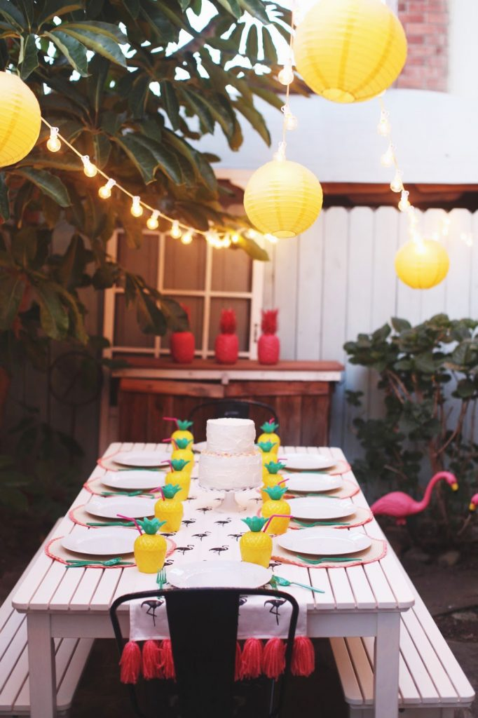 Merrick's Art | Pineapple Flamingo Party