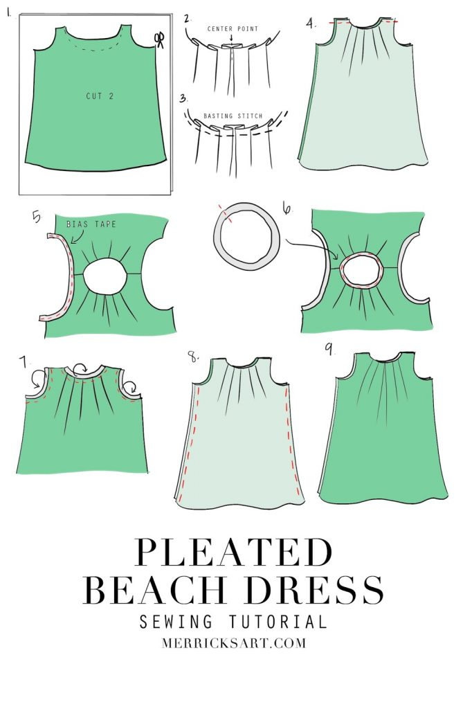 Merrick's Art Pleated Beach Dress Tutorial