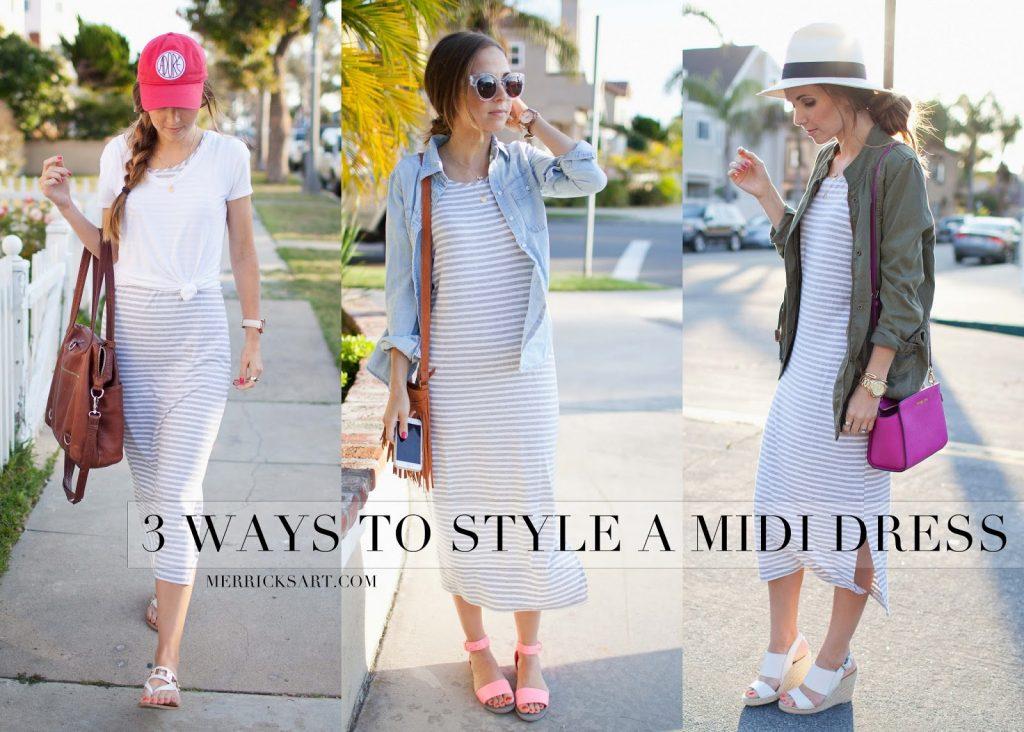 Merrick's Art   Three Ways to Wear a Midi Dress