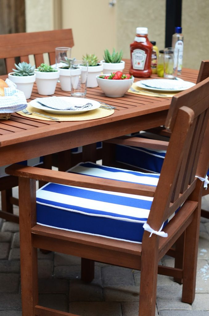 Diy Friday Backyard Bbq 2 Sided Chair Cushions With Piping Tutorial