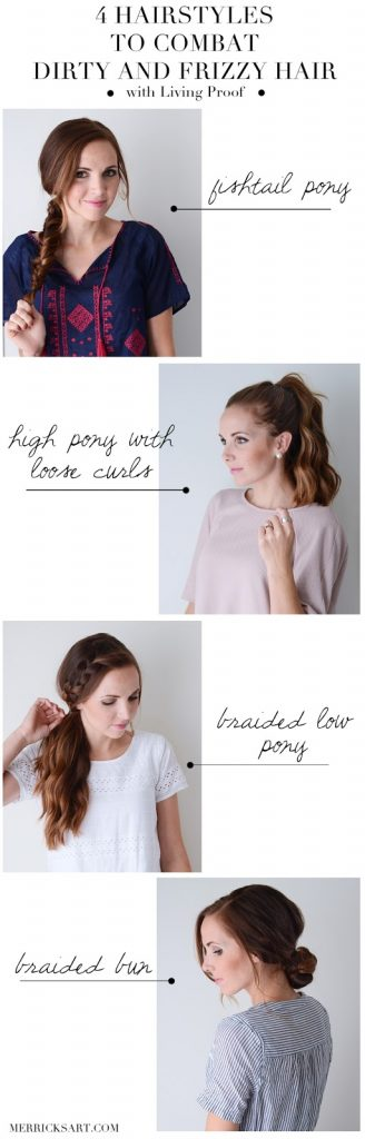 Peachy 4 Hairstyles For Combating Dirty And Frizzy Hair Merricks Art Natural Hairstyles Runnerswayorg