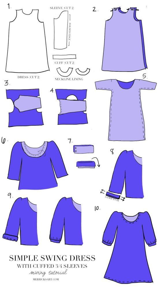 Merrick's Art | Ice Cream Swing Dress Sewing Tutorial