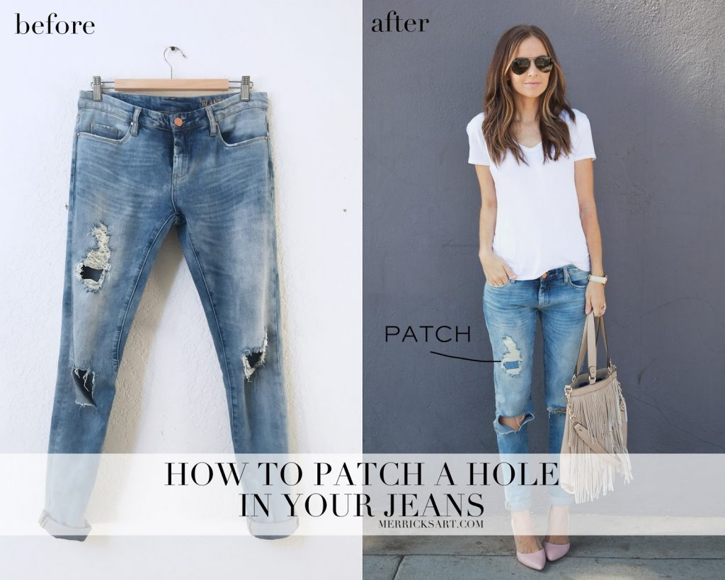 Quick Fix Friday How To Patch A Hole In Your Jeans Merrick S Art