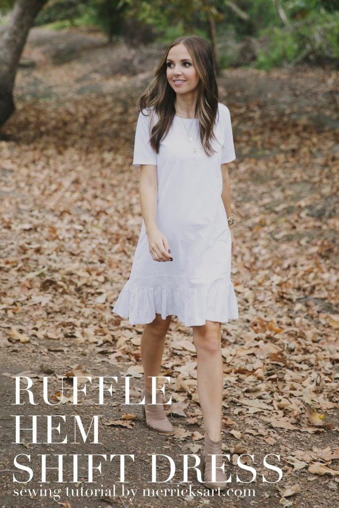 Diy Friday Ruffle Hem Shift Dress Maternity Or Non