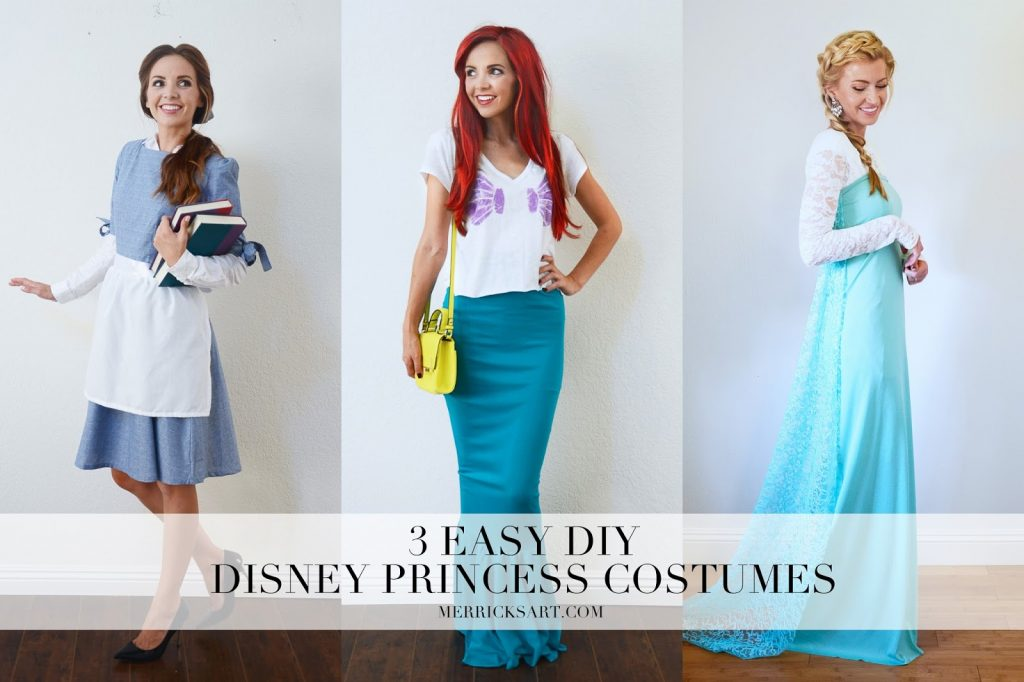 Diy halloween 3 easy disney princess costumes merricks art now choose your favorite and get those costumes ready for halloween solutioingenieria Choice Image