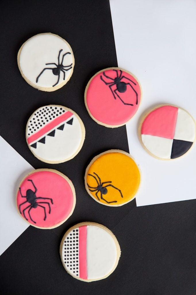 Merrick's Art | Geometric Spider Halloween Sugar Cookies