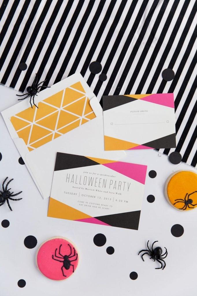 Minted Geometric Halloween Party Invitations