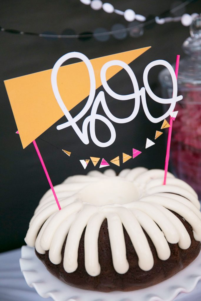 Merrick's Art   Geometric BOO Cake Topper