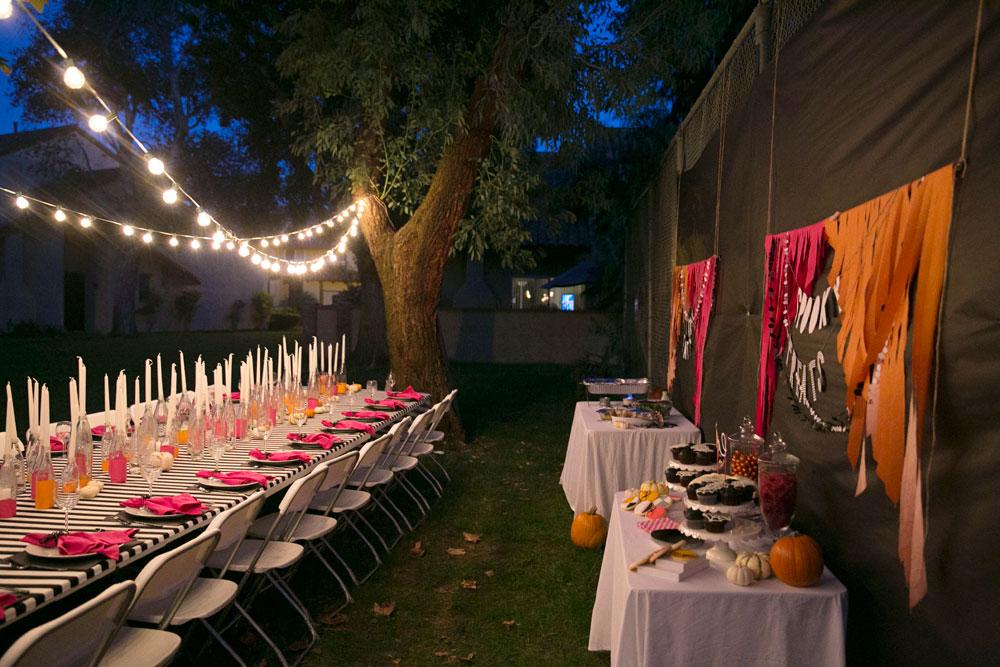 Merrick's Art | Pink and Orange Halloween Party