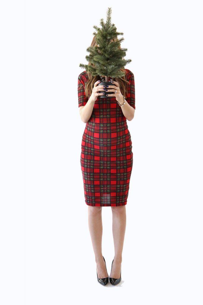 Merrick's Art   Red Plaid Holiday Dress