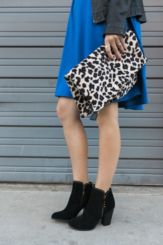 knee length dress with booties