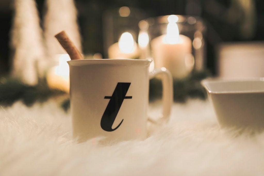 Hot cocoa, monogrammed mug