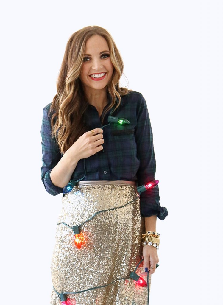 Merrick's Art | Gold Sequin Christmas Skirt