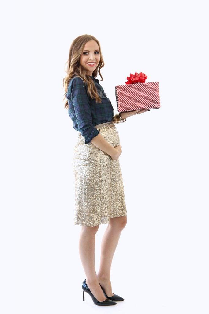 handmade maternity sequin skirt | Merricksart.com