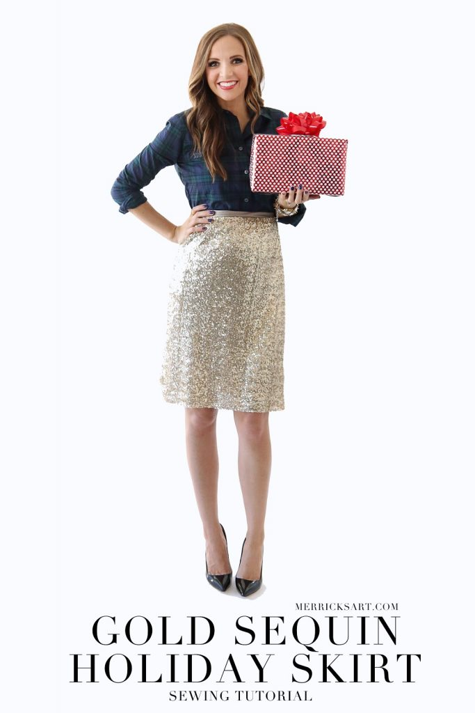 Modern Girl Sewing | Gold Sequin Skirt