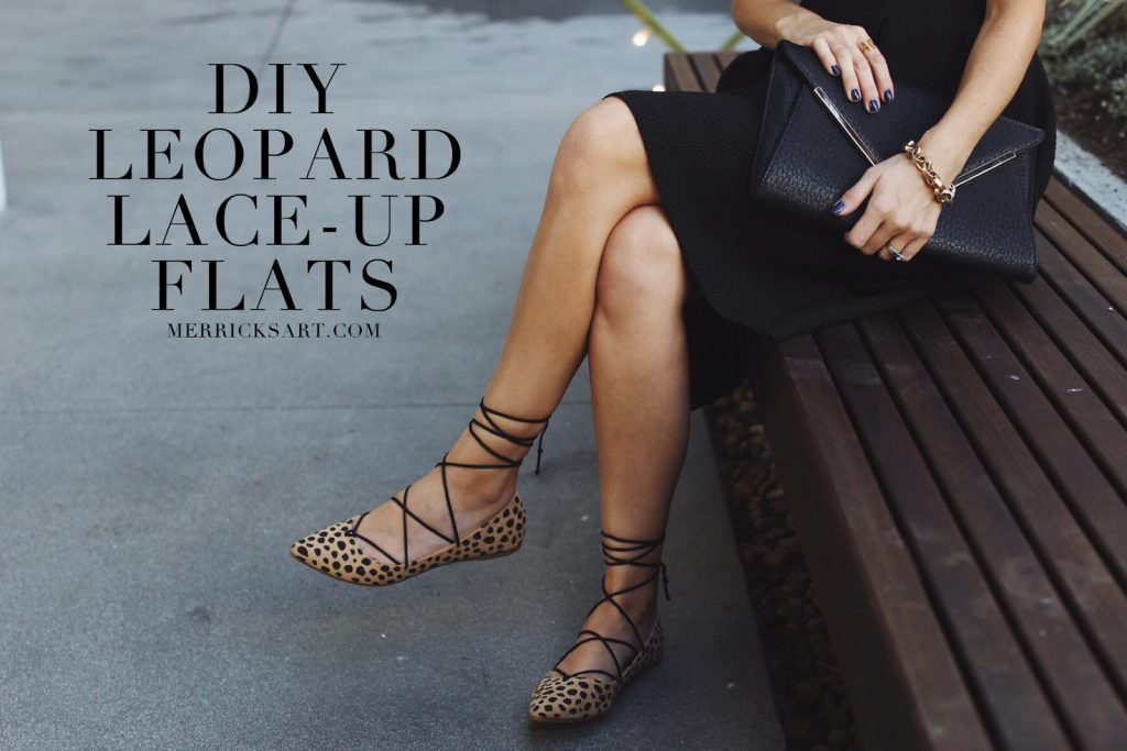 Merrick's Art | Do-It-Yourself Leopard Lace Up Flats