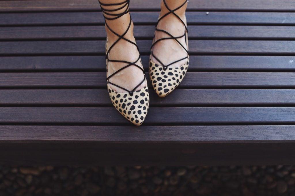 Merrick's Art | Do-It-Yourself Leopard Lace Up Flats