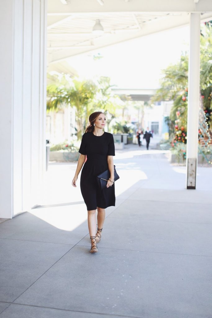 Merrick's Art | Lace Up Flats and Little Black Dress
