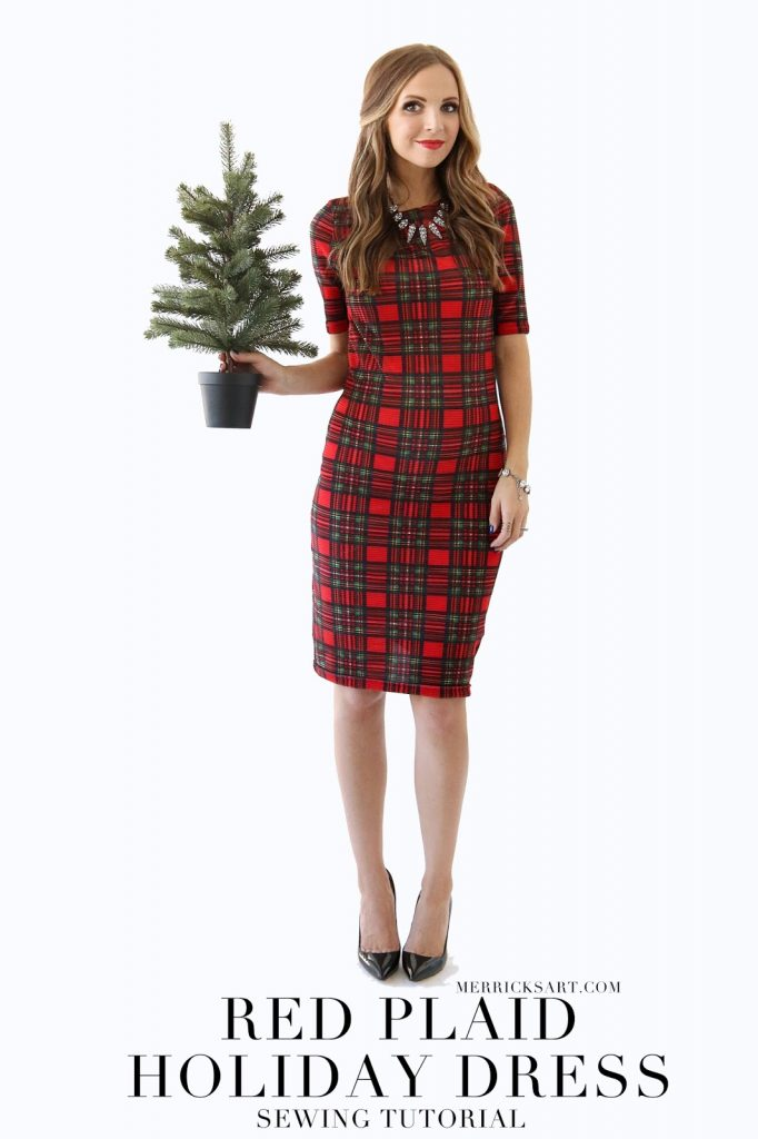 merricks art handmade christmas shift dress - Christmas Plaid Dress