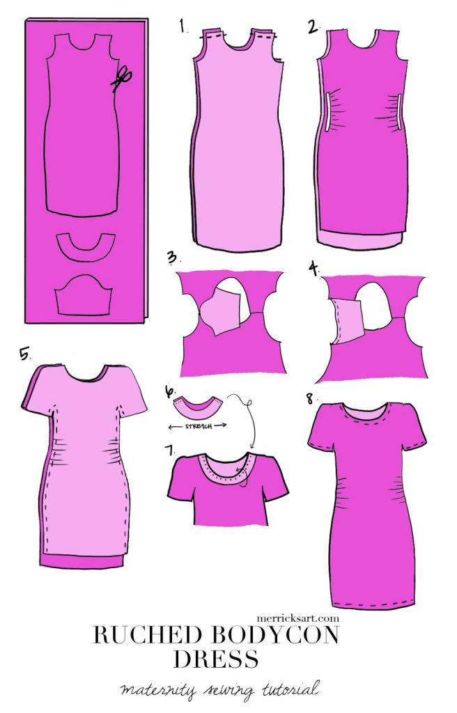Merrick's Art   DIY Ruched Bodycon Dress