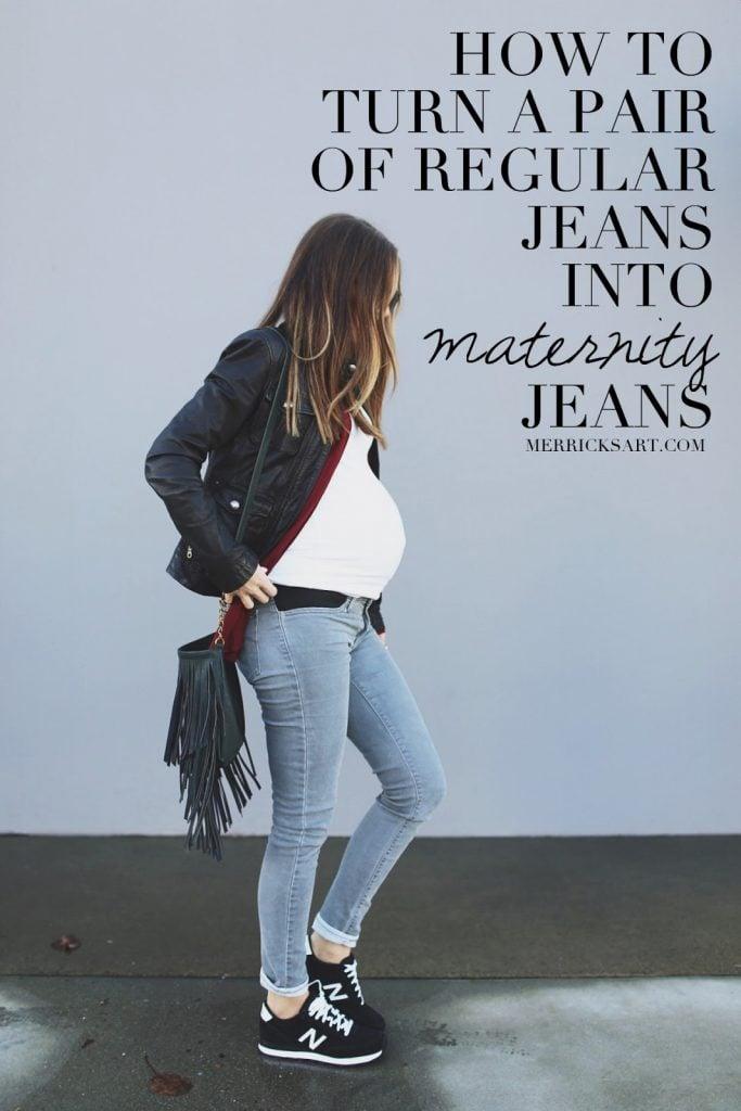 Diy Friday Make Your Own Maternity Jeans Merrick S Art