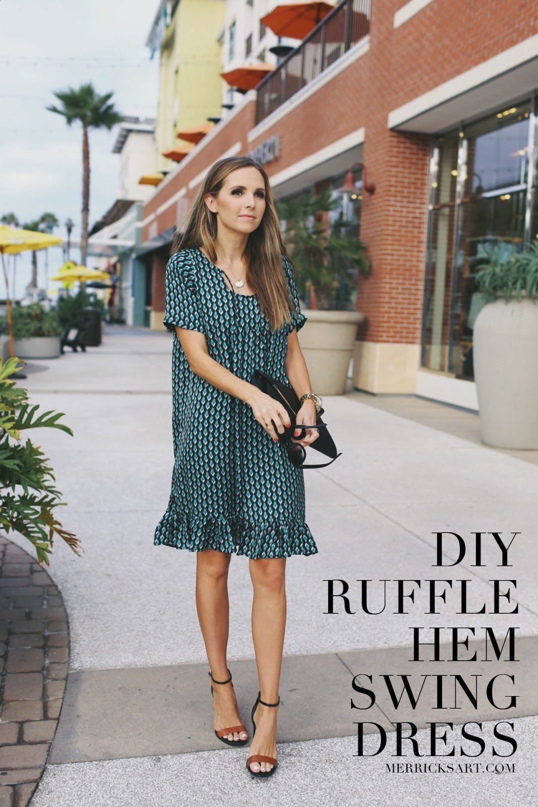 ruffle-hem-swing-dress