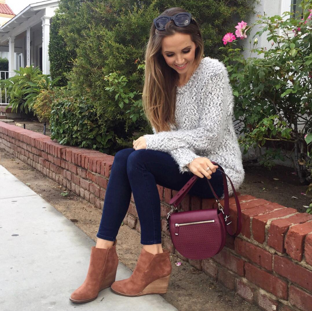 Merrick's Art Nordstrom Rack Sweater and Wedge Boots