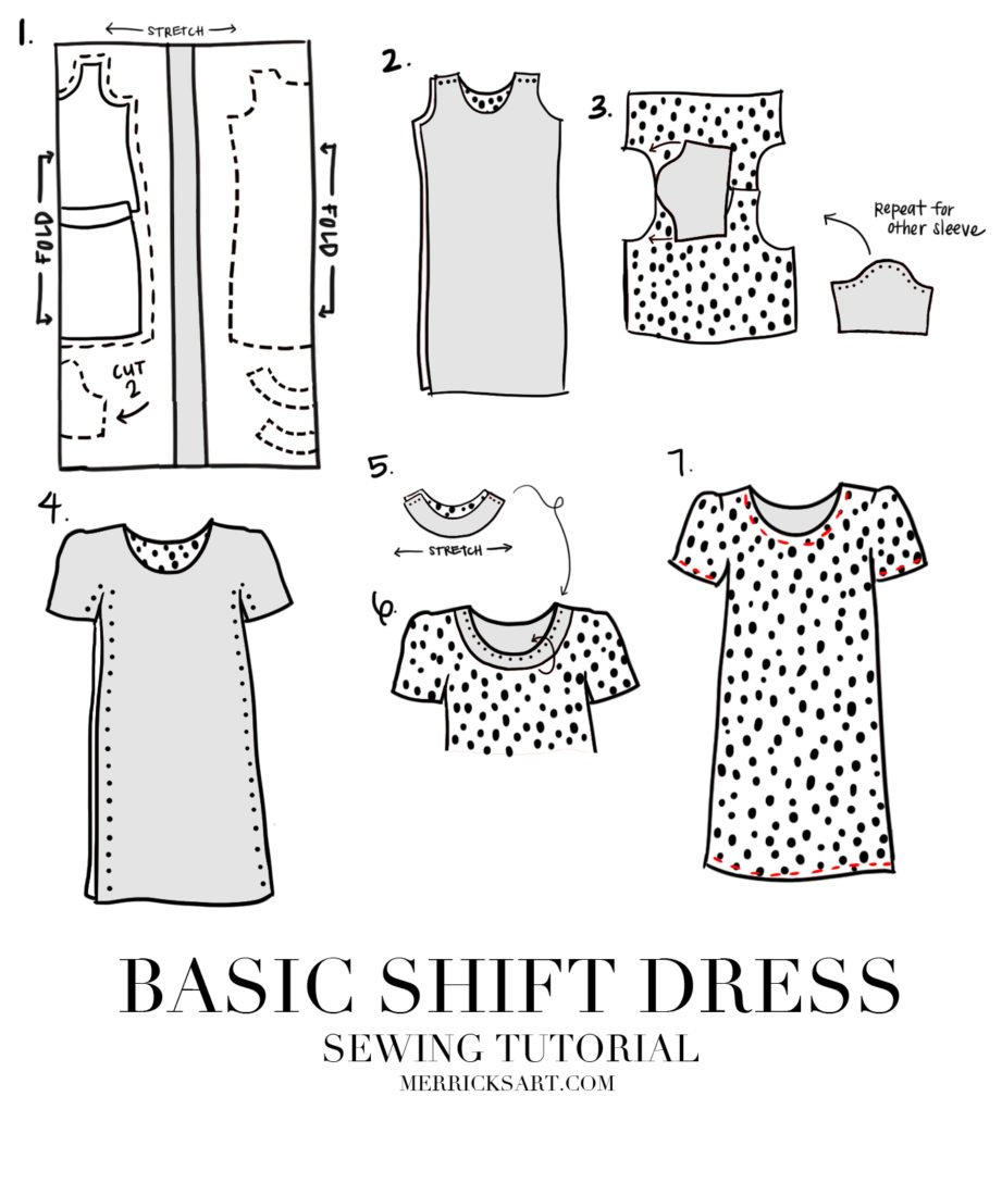 shift dress pattern sewing project