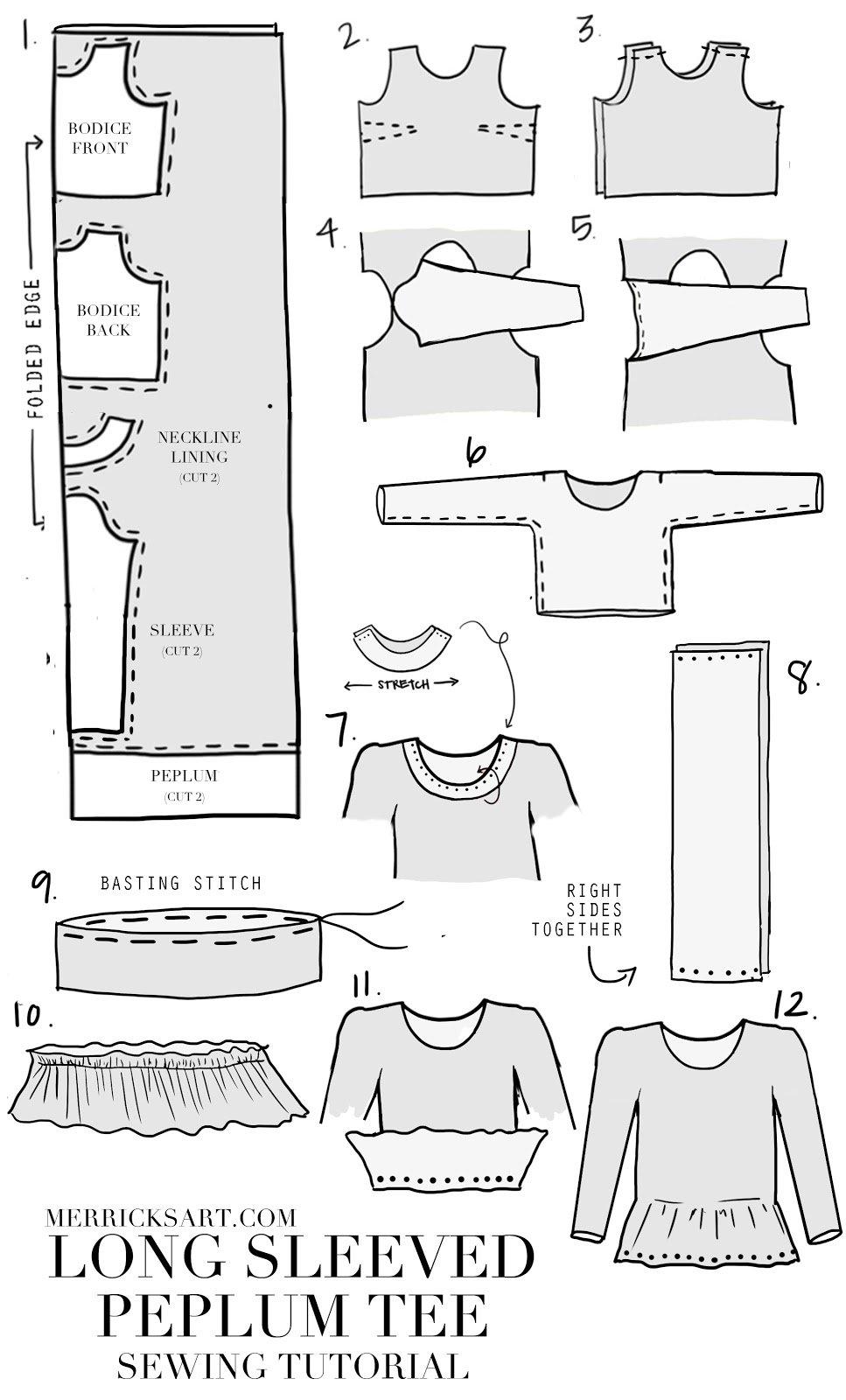 striped-long-sleeved-peplum