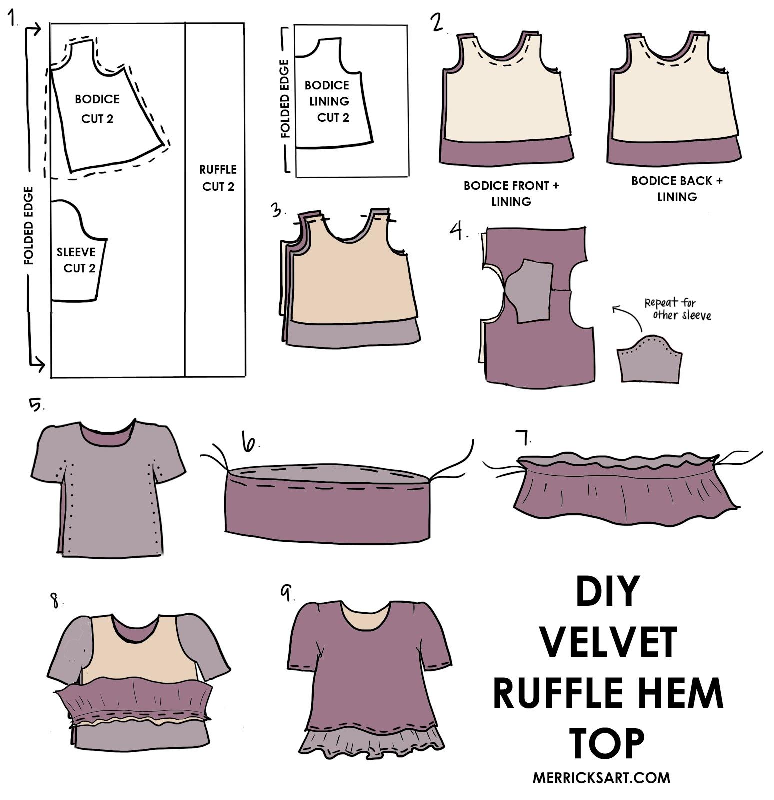 velvet-ruffle-hem-top