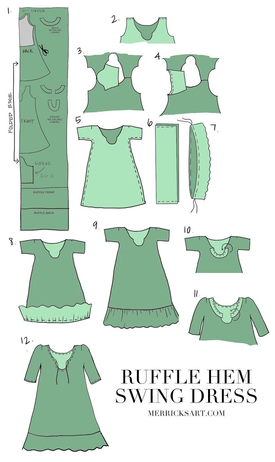 ruffle-hem-printed-dress