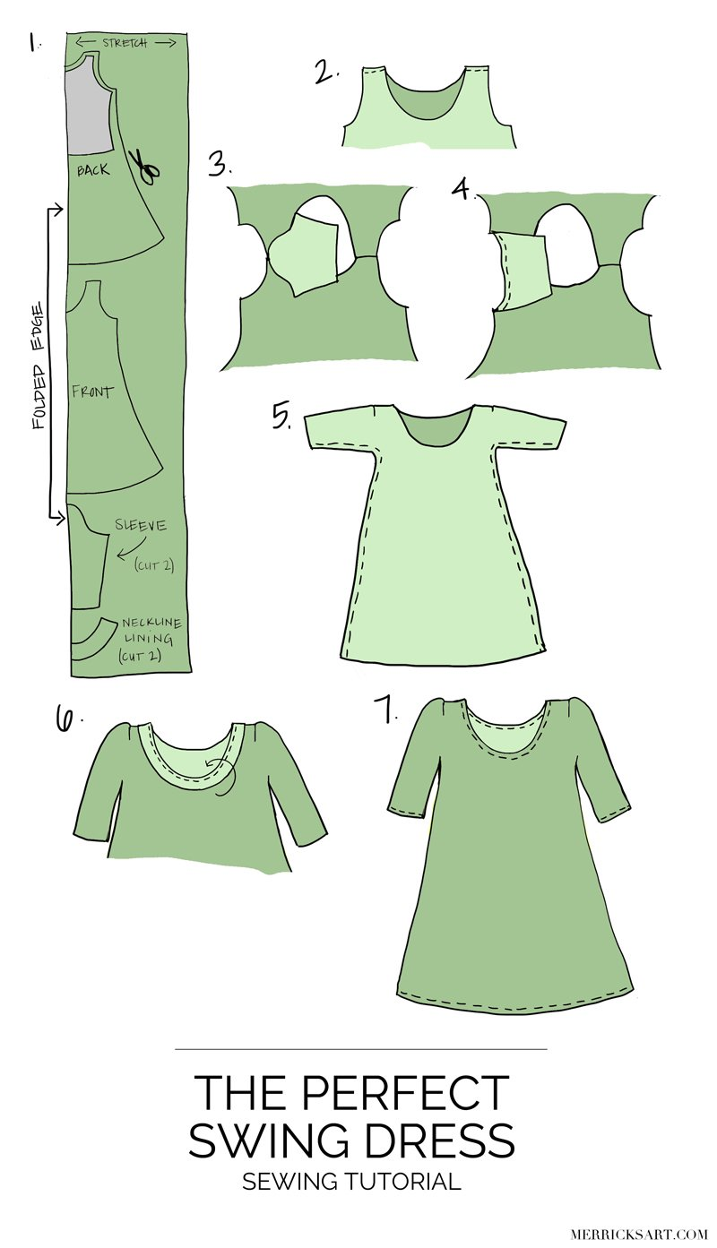 Merrick's Art | DIY Olive Swing Dress
