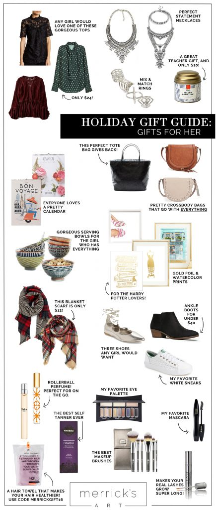 Merrick's Art Holiday Gift Guide - Gifts for Her