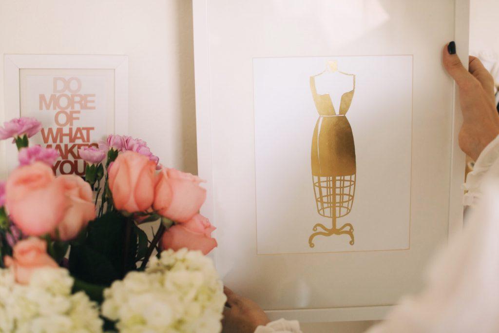 Merrick's Art Gold Foil Dress Form