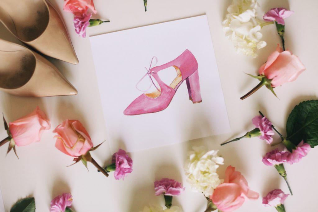 Merrick's Art Pink Shoe Bella Adelle Co